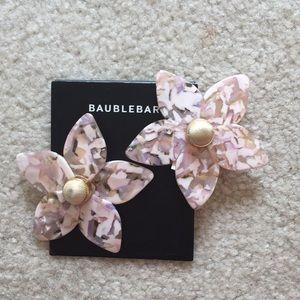 Baublebar big flower stud earrings
